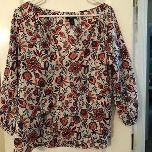 Gap women's floral blouse
